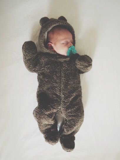 There is something about a baby in a bear onesie that is just to die for