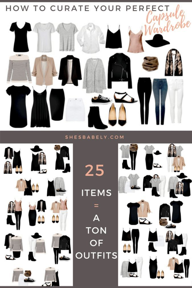 Build Your Perfect Capsule Wardrobe - Curate Your Capsule Wardrobe - FREE WORKBOOK - Free Printables- Free EBook - Minimalism Organization Declutter   www.shesbabely.com