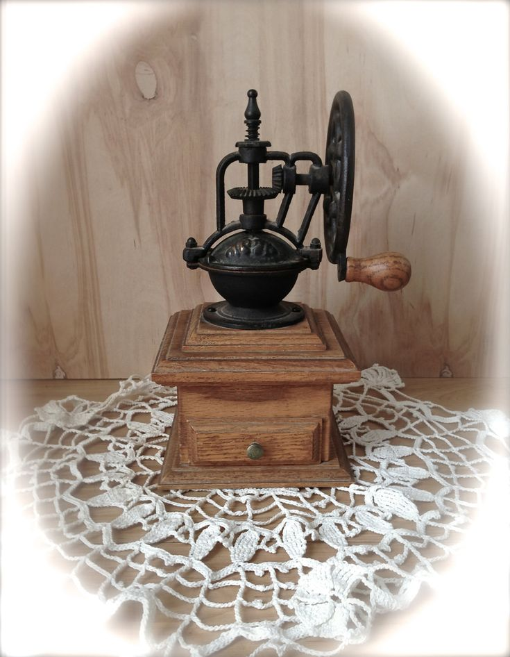 Vintage Coffee Grinder - Rare Exposed Gears Grinder - Vintage Home Decor - Farmhouse - Kitchen Decor - Collectibles. .