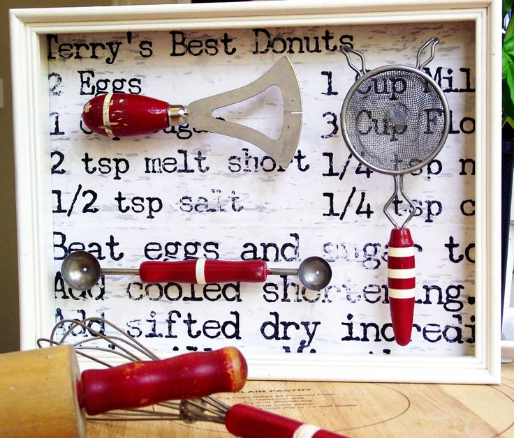 Vintage Kitchen Tools Shadow Box