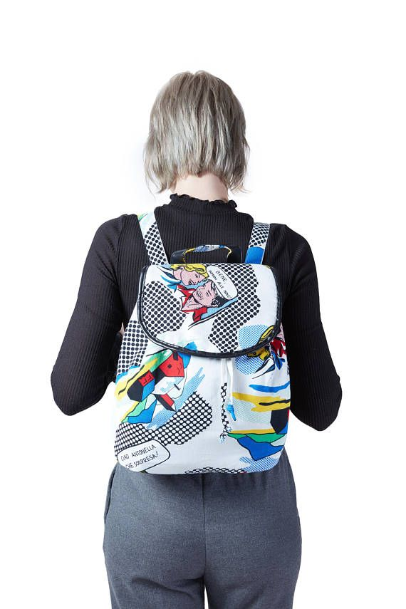 Sale!! Rucksack Tasche Weiß Pop Art Instagram: e.nyani – E.Nyan