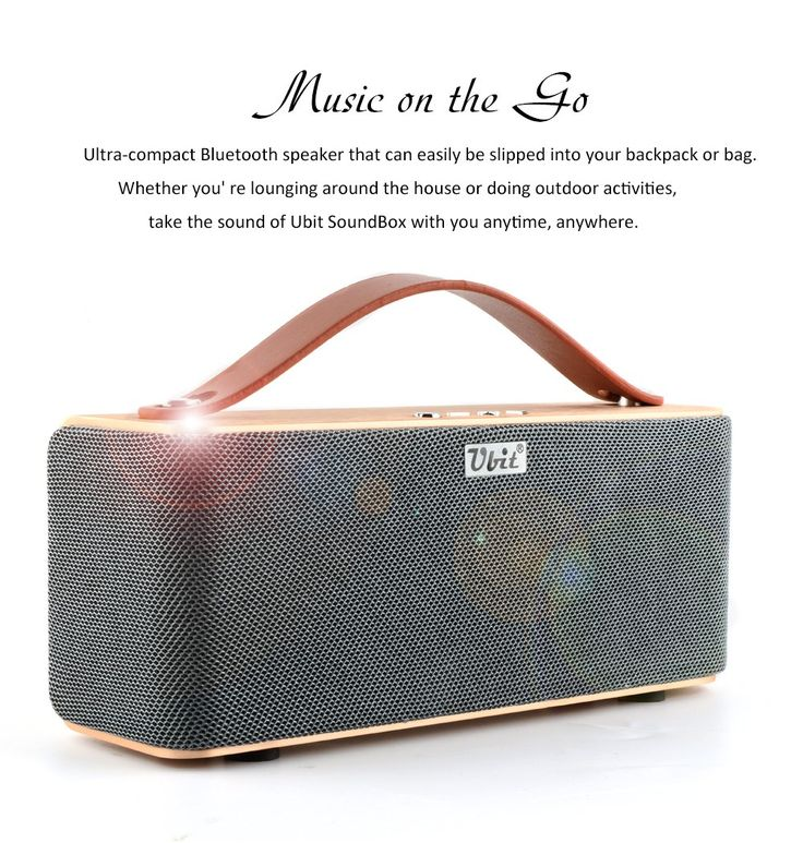 Ubit Premium Stereo 10W Bluetooth 4.0 Speaker , Two Passive Subwoofers, Portable Wireless Speaker for iPhone, iPad, Nexus, and More - Gold. Implemented with 10W total acoustic drivers and ultra-small size produce a wide audio spectrum. The newly designed passive radiator could provide strong bass without distortion even at highest volume. Equipped with the advanced Bluetooth 4.0 technology, compatible with all Bluetooth-enabled devices (Bluetooth V2.1 and over). Same Size (7.48 x 2.95 x…