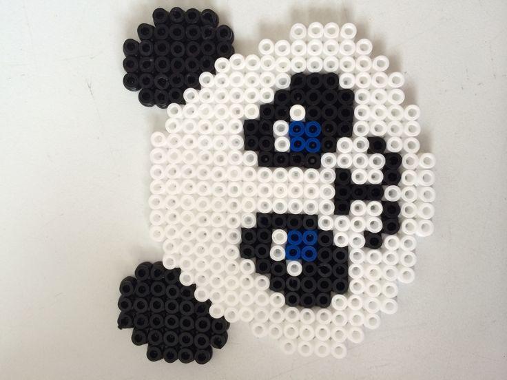 Panda hama perler beads by Louise Nielsen