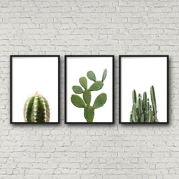 Cactus Print Succulent Print Set Of 3 Prints Triptych Wall Art Cactus Printable Cactus Poster Bota Triptych Wall Art Boho Wall Art Modern Printable Wall Art