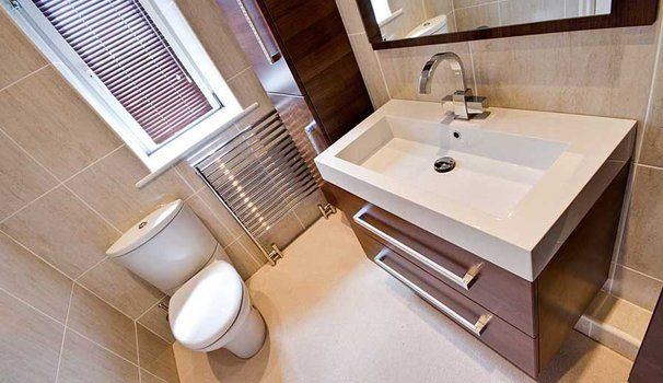 Ensuites by Bathrooms by Ryan Waine. Utopia wall hung furniture. Jacob Delafon luxury WC.