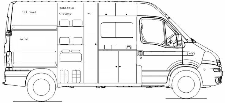 135 best am nagement fourgon images on pinterest campers van camping and motor homes. Black Bedroom Furniture Sets. Home Design Ideas