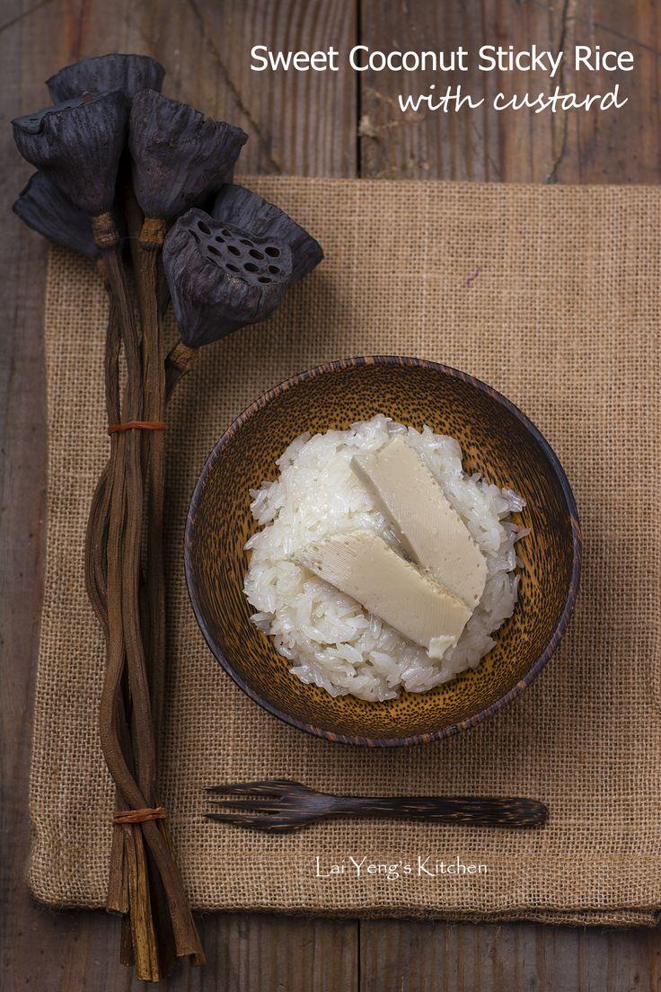 Sweet Coconut Sticky Rice with Custard