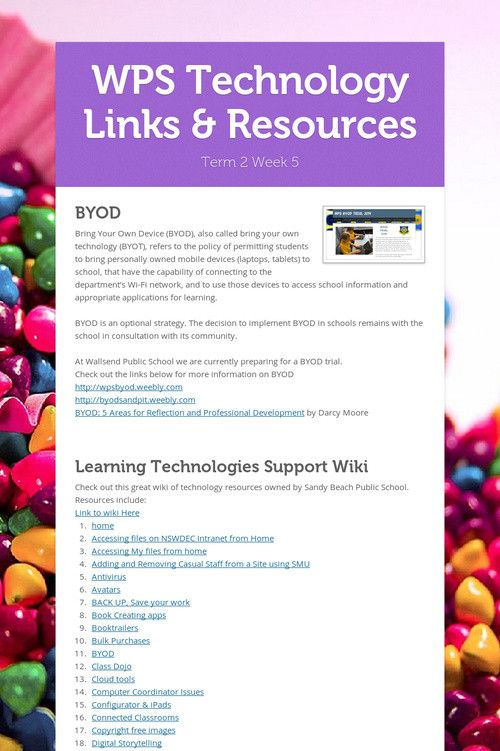 WPS Technology Links & Resources