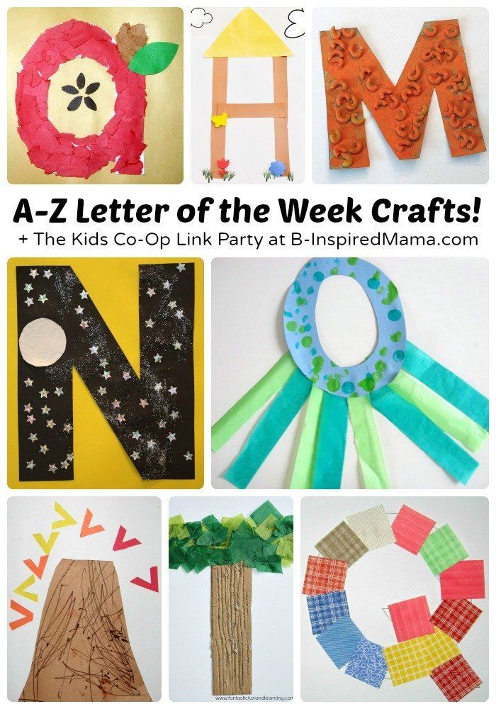 A to Z ~ Cute Letter of the Week Arts and Crafts for Preschool and Kindergarten! Check out B is for bubbles!