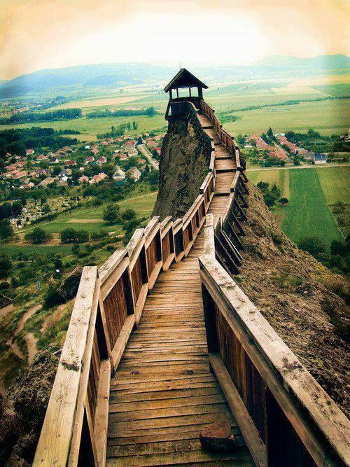 Mountain Lookout, Boldogkőváralja, Hungary. Adding to list of what I need to see on my post college adventure!