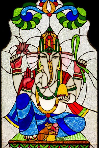 Ganesha Glass Painting Patterns