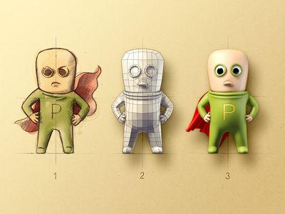 P-Man character design