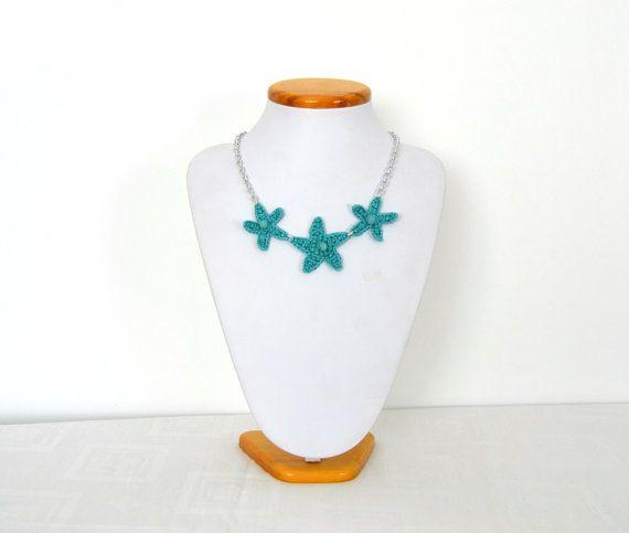 Preziosa collana girocollo turchese con stelle marine di VereV