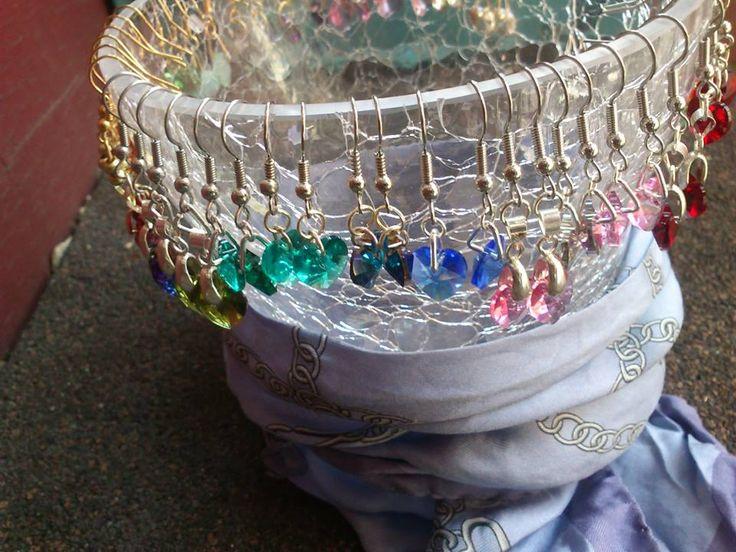 ALL Colors of Swarovski Earrings! Handmade by me!
