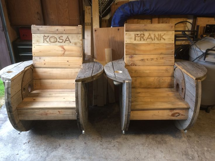 Another his and hers rocking spool chairs being sent out today!