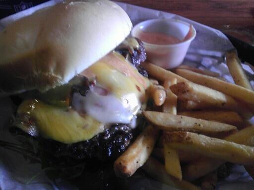 Baby Benny burger at SLC favorite, Lucky 13 - best burger I've ever had.