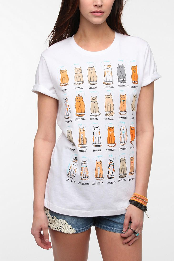 250 best cats t shirts images on pinterest kitty cats t for Lucky cat shirt urban outfitters