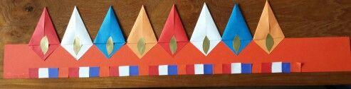 Vliegers 10 bij 10 en een reeks van vierkantjes uit een vlechtstrook
