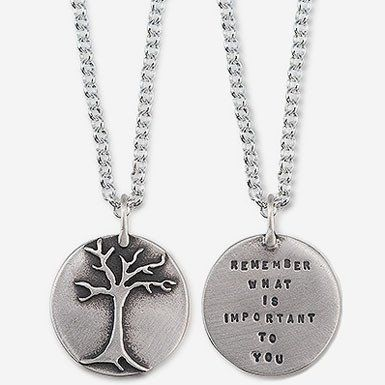 "Kathy Bransfield ""Remember What Is Important To You"" Necklace"
