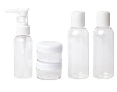 5pc #holiday travel #clear bottle set & bag  airport #security approved 100ml ,  View more on the LINK: http://www.zeppy.io/product/gb/2/221706192662/