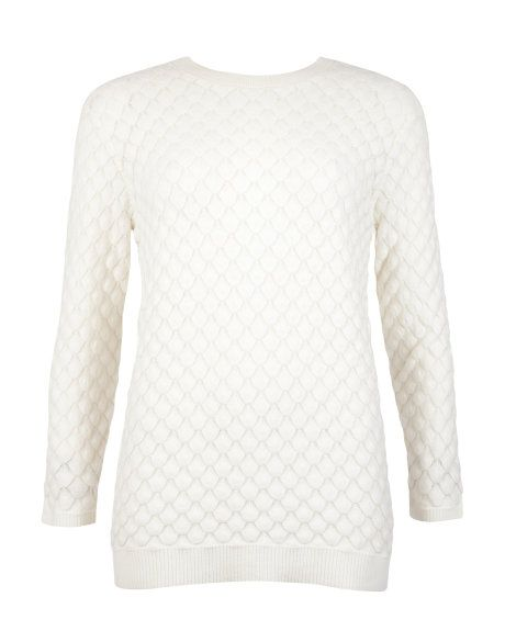 Bobble stitch sweater - Cream   Knitwear   Ted Baker UK #PinpoinTed