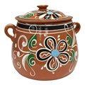 Olla de Barro Frijolera sin Plomo / Lead Free Clay Bean Pot with lid Small