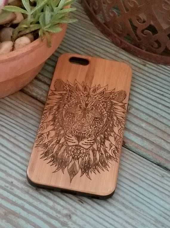 Tribal Lion bamboo wood iPhone case for iPhone 6 iPhone 6s