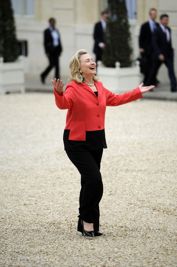 Because trump fashion is trending and that isnt fair.  Just because Hillary has better things to do than squeeze into tiny tight dresses....go pantsuit!!