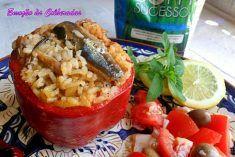 Pimentos Recheados com Arroz de Sardinhas