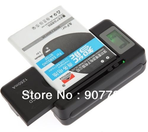 Universal LCD Mobile Cell Phone Battery Wall Travel Charger with USB Port 95,75 руб.