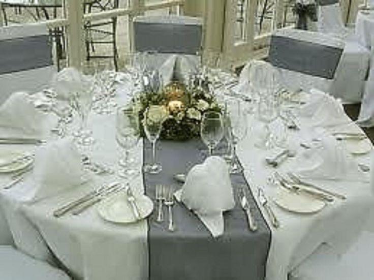 10 X Crystal Organza Table Runners New Overlocked Hem In Silver Wedding Suppliessilver Weddingsreception