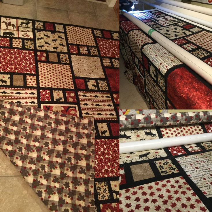 A Hug from Canada Quilt to comfort a friend with cancer. Northcott Oh Canada collection cottons and snugly flannel backing. #quiltsinspiredbyeva #apqmillie