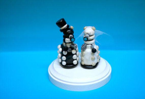 Dalek Wedding Cake Toppers  Custom Wedding Cake Topper