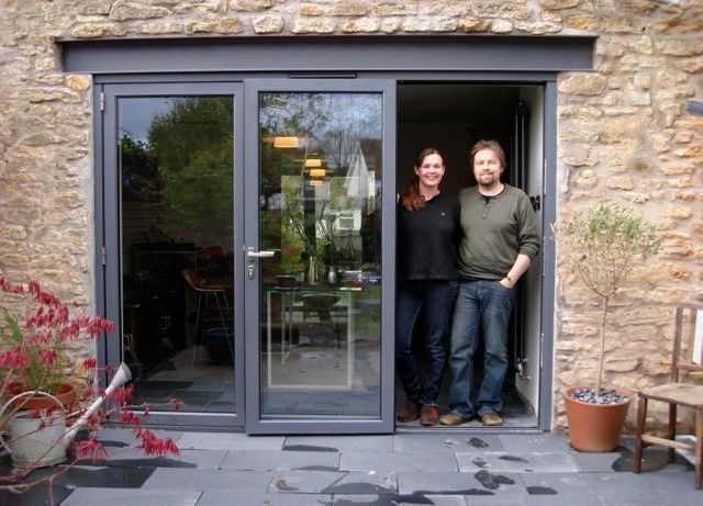 Owners in front of their aluminium bifold doors - Frome Somerset & 31 best Concertina Doors images on Pinterest | Architecture ...