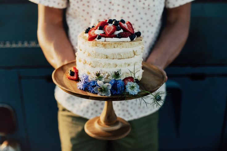 Photo from VG Donut Bakery.  Love the simplicity of this cake stand!  I think a simple, wooden stand would look very nice and natural with the cake and the succulents