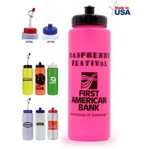 Wholesale Water Bottles - Sports Bottle with Push 'n' Pull Cap - 32 oz.