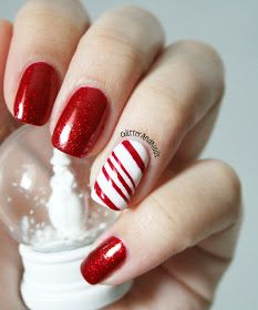 @ Stephanie Hayes...Glitter and Nails: Candy Cane !