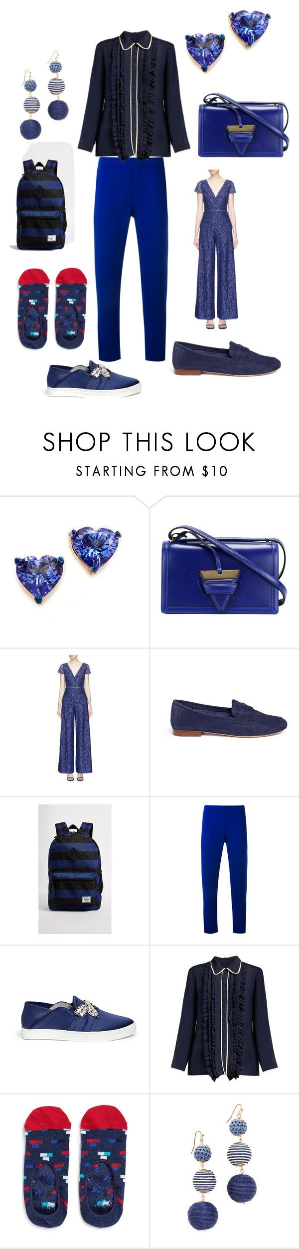 """""""remember the women"""" by emmamegan-5678 ❤ liked on Polyvore featuring Holly Dyment, Loewe, Alice + Olivia, Mansur Gavriel, Herschel Supply Co., P.A.R.O.S.H., Pedder Red, Marni, Happy Socks and Shashi"""