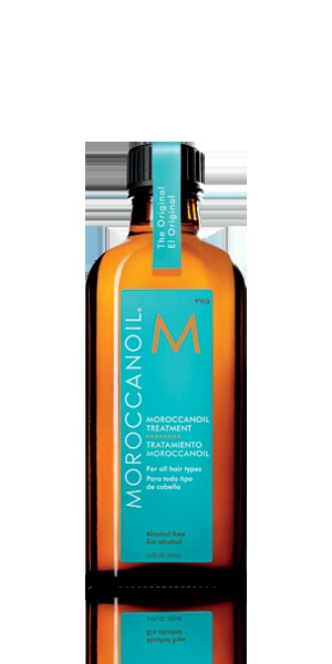 Miracle in a bottle. It smells fantastic and a little goes a long way. Great for any hair type as I've recently learned white girls use it.  MoroccanOil Treatment - Original