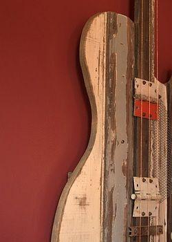 Reclaimed wood guitar