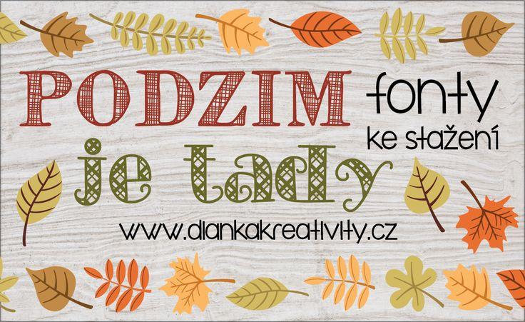 BEST FALL FONTS FREE / FONTY KE STAŽENÍ: Podzim je tady