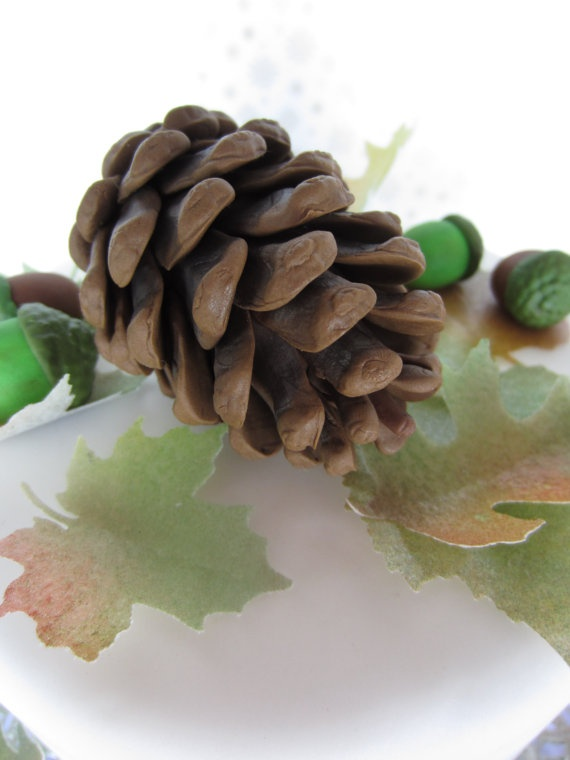How To Make Cake Decoration Cone : gum paste pine cones for the cake!? Cake Decorating ...