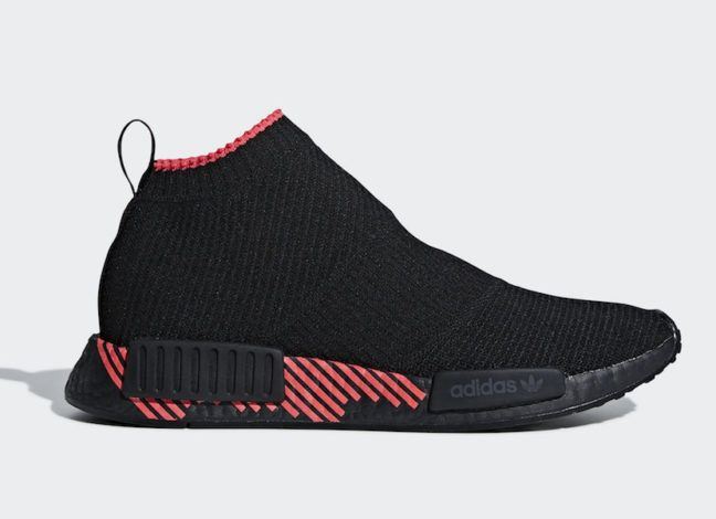 hot sale online 808b1 f9755 adidas NMD CS1 - Black and Shock Red | Sneakers in 2019 ...