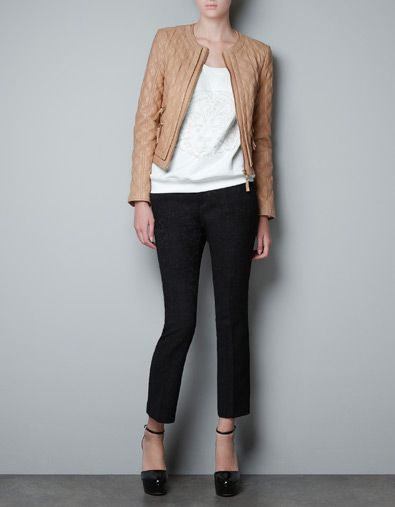 QUILTED LEATHER JACKET - Blazers - Woman - ZARA United States
