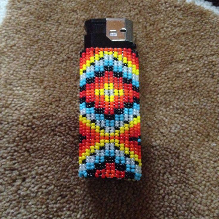 Beaded Lighter Cover/Case by Butik724 on Etsy
