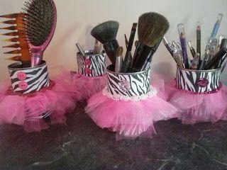 Hot Glue & Sparkle - Cutest DIY Blog EVER!!!!!!!!! Love the zebra print tutu cans!!!!!