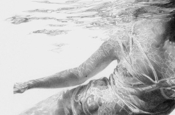 Sophie Bray (Australia) - Breathing Water. Pencil on paper, 50 x 66 cm (2006)