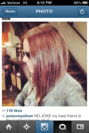 Angled long bob - thinking of cutting my hair back to mid length. by shauna