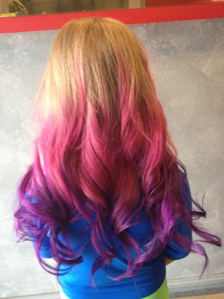 Pink Purple Ombr Hair Color  Hair Ideas  Pinterest  Purple Hair Colors C