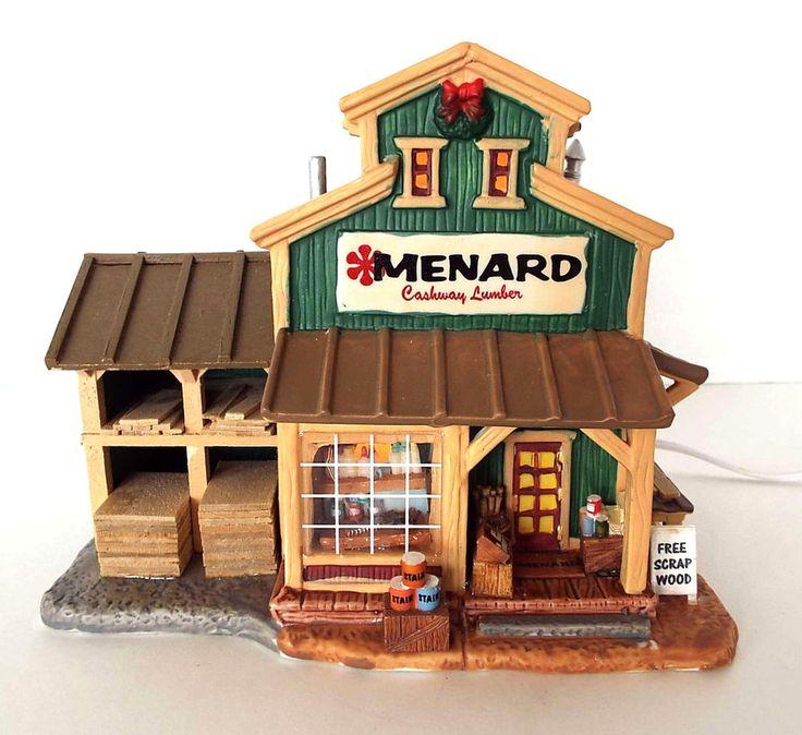 2005 Lemax Village Menard Lumber Lighted House Menards Exclusive 289-2354 #LemaxVillage